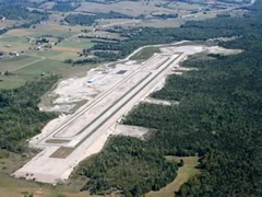 Aerial photo of 0VG (Lee County Airport)