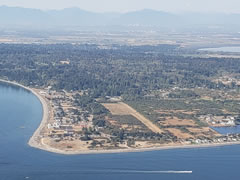 Aerial photo of 1RL (Point Roberts Airpark)