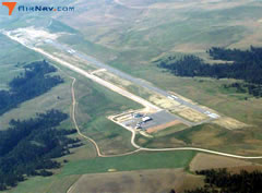 Aerial photo of W43 (Hulett Municipal Airport)
