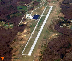 Aerial photo of KBYL (Williamsburg-Whitley County Airport)