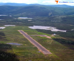 Aerial photo of 3T4 (Tetlin Airport)
