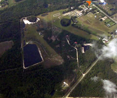 Aerial photo of 7GA2 (McClellan Airport)