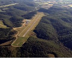 Aerial photo of KSYM (Morehead-Rowan County Clyde A Thomas Regional Airport)