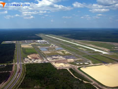 Aerial photo of KECP (Northwest Florida Beaches International Airport)