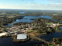 Aerial photo of 4WI3 (Northwoods Romeo Seaplane Base)