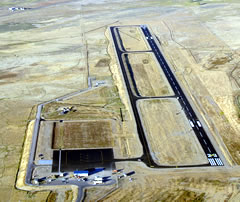 Aerial photo of KHSG (Hot Springs County Airport)